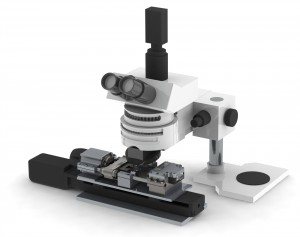 Turnkey system package includes microscope, camera, DIC software, secondary x-stage, and vibration isolating optics table